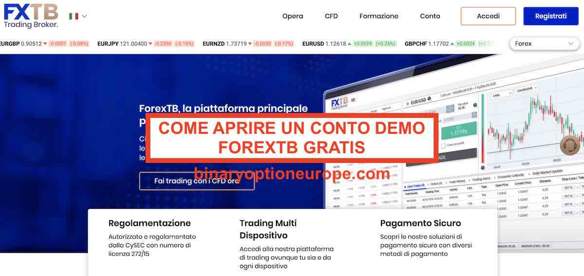 come aprire un conto demo centesimo